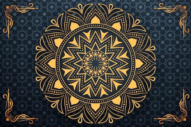 Creative luxury arabesque mandala background Premium Vector