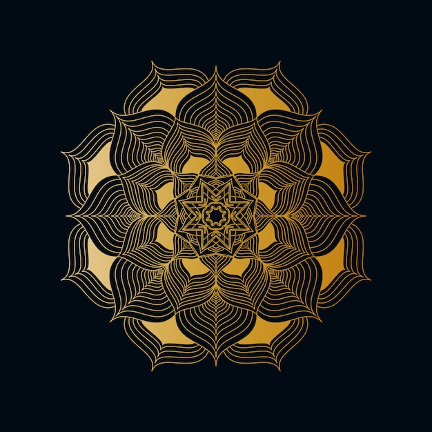 Creative luxury mandala background with golden creative arabesque pattern arabic islamic east style Premium Vector