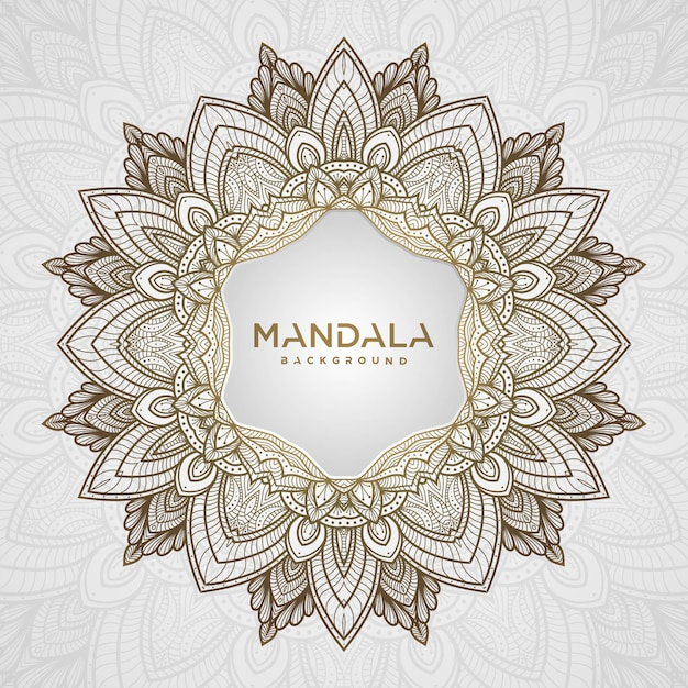 Creative luxury mandala background Premium Vector