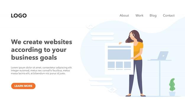 Creative marketing agency portfolio Premium Vector