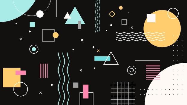 Creative memphis geometric wallpaper Free Vector
