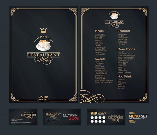 Creative menu template Premium Vector