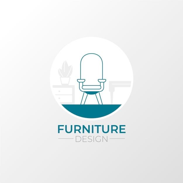 Modello di logo creativo minimalista mobili Vettore gratuito