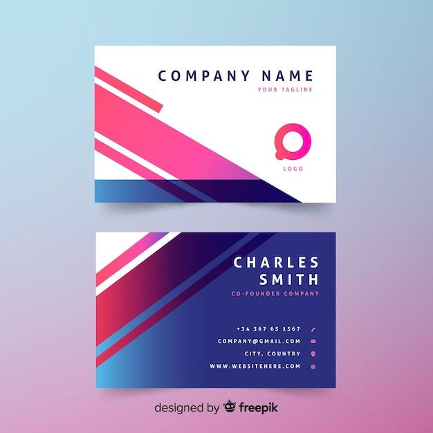 free vector  creative modern business card design