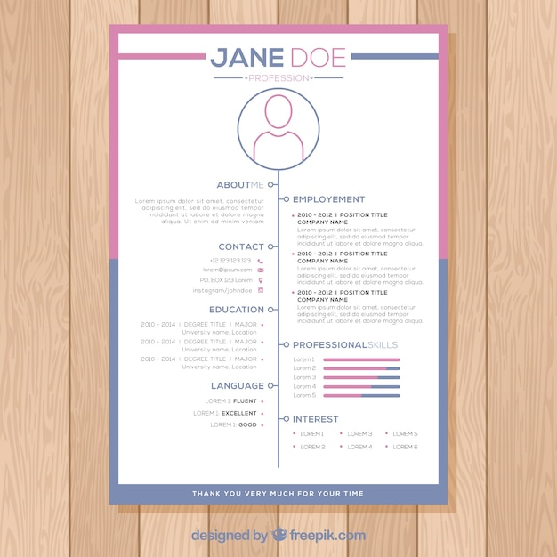 creative modern cv design vector free download