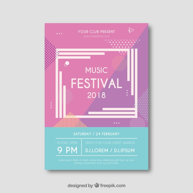 Creative Modern Music Festival Flyer Vector  Free Download