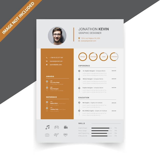 Creative Modern Resume Template Design Premium Vector