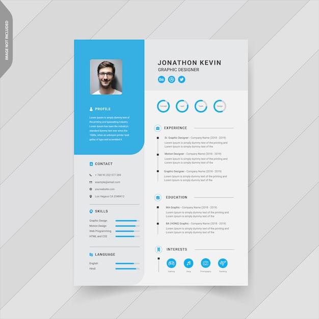 Creative modern resume template Premium Vector