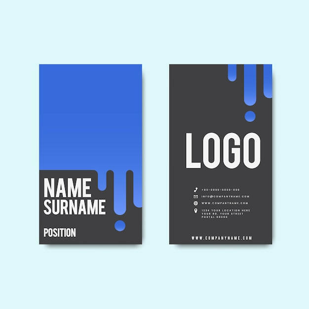 Creative modern retro business card design Free Vector