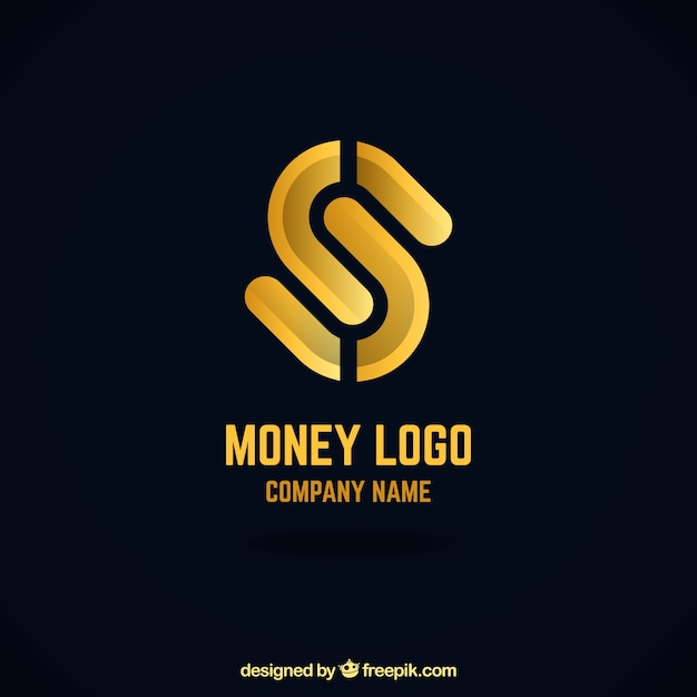 Creative money logo concept Free Vector