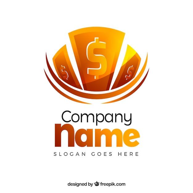 Free Vector Creative Money Logo Design