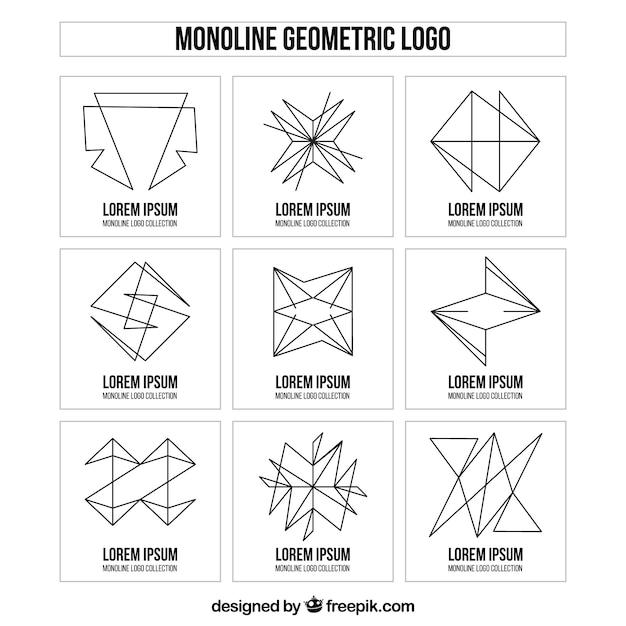 Creative monoline logo collection