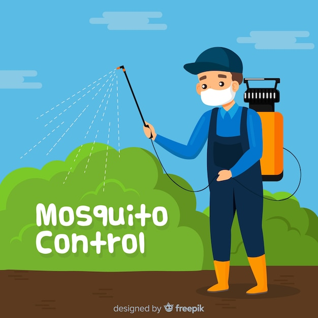Creative mosquito control concept Free Vector