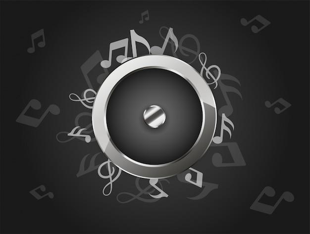 Creative Music Background With Audio Speaker Premium Vector