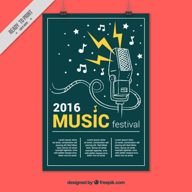 Creative Music Festival Poster Vector Free Download