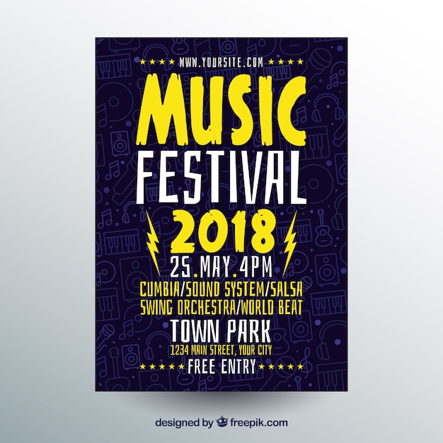 Creative music poster concept Free Vector