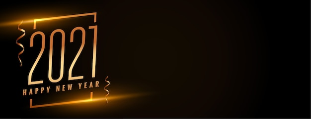 Banner di capodanno creativo con numeri 2021 Vettore gratuito