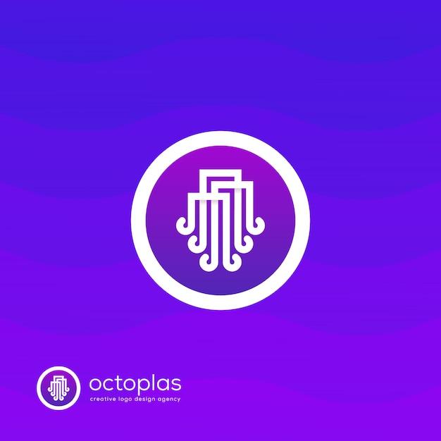 Creative octopus logo Premium Vector