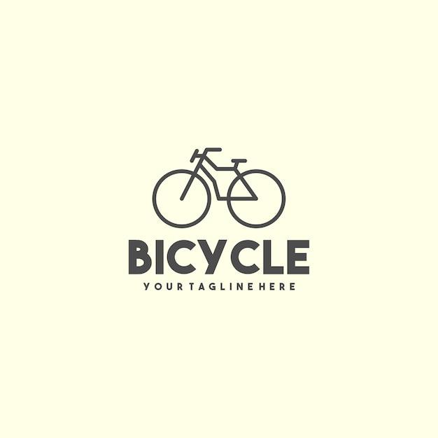 クリエイティブアウトライン自転車ロゴ Premiumベクター