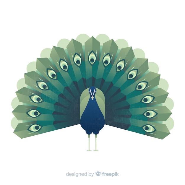 Creative peacock design Free Vector