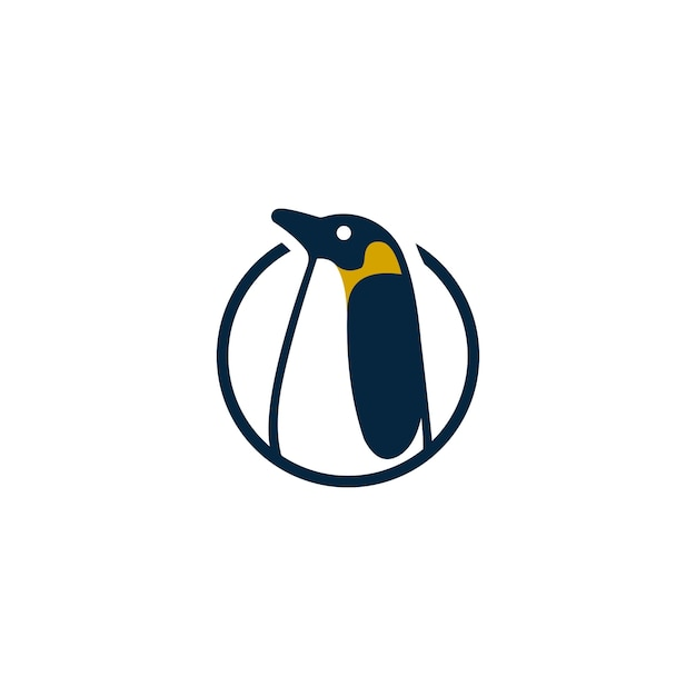 Creative Penguin Vector Logo Design Graphic Abstract Template Vector