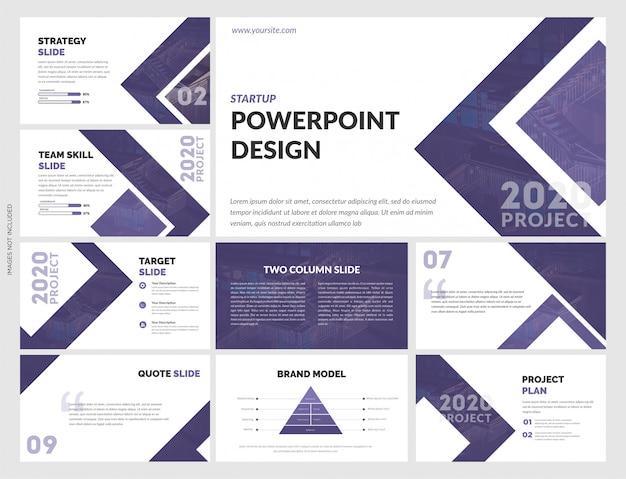 Творческий шаблон powerpoint для бизнес-стратегии Premium векторы