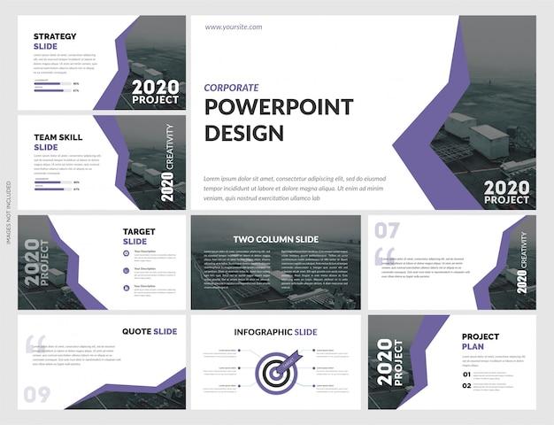 Креативный дизайн шаблона презентации Premium векторы
