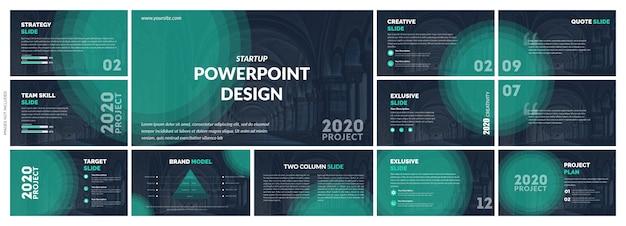 Креативная презентация шаблон вектор дизайн Premium векторы