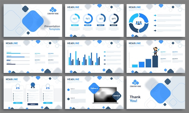 Creative presentation templates for business. Premium Vector