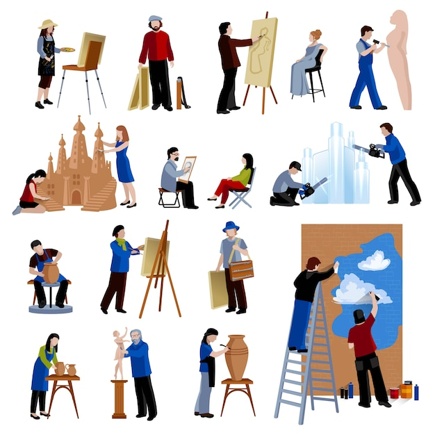 Creative profession Free Vector