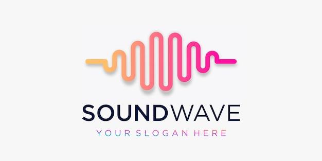 Creative pulse logo . wave element. logo template electronic music, equalizer, store, dj music, nightclub, disco. audio wave logo concept, multimedia technology themed, abstract shape. Premium Vector