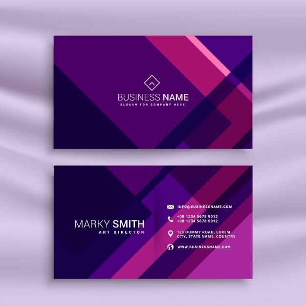 Creative purple business card in abstract style vector free download creative purple business card in abstract style free vector colourmoves Image collections