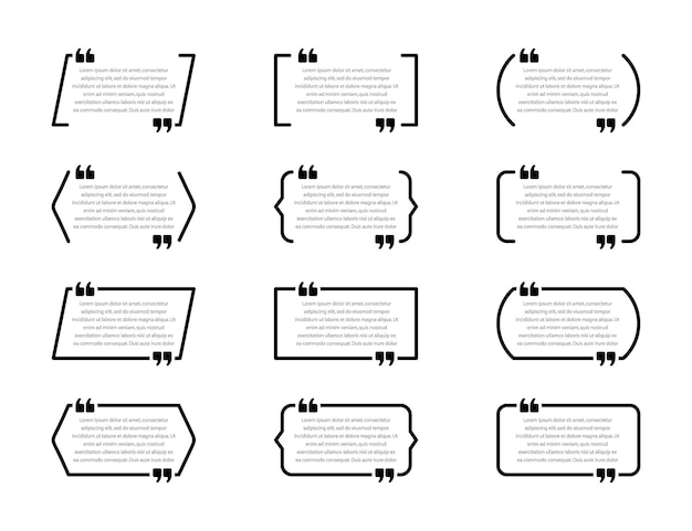Креативная иллюстрация коробки цитаты Premium векторы