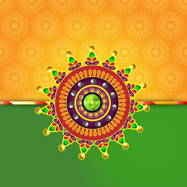 Creative Rakhi Design For Indian Festival Of Brother And Sister