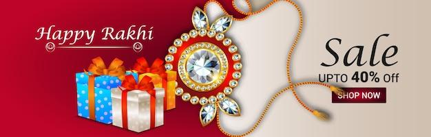 Creative raksha bandhan festival greeting card Premium Vector