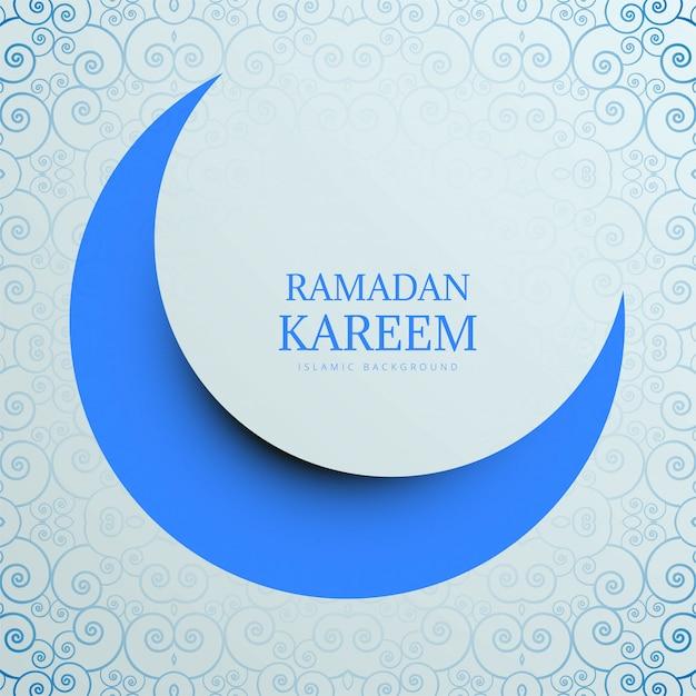 Творческий рамадан карим с фоном луны Бесплатные векторы