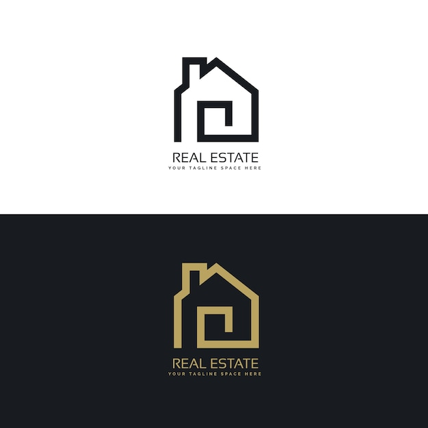creative real estate logo design free vector