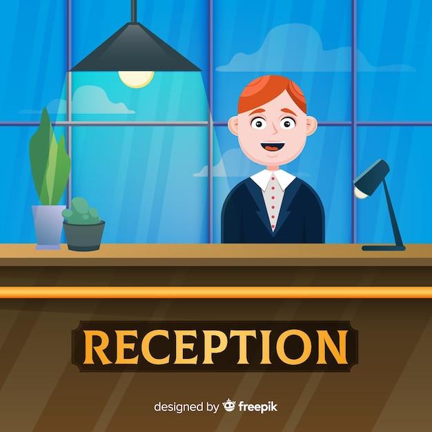 Creative reception concept in flat design Free Vector