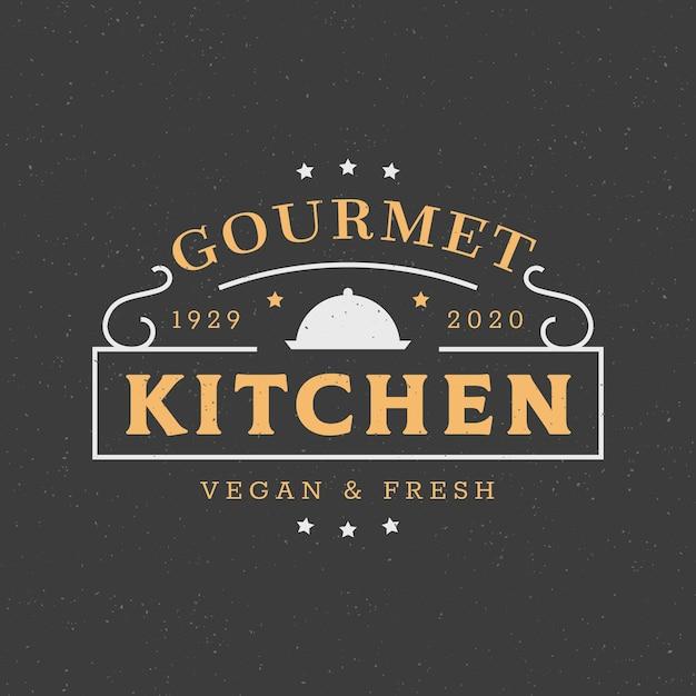 Creative restaurant logo template Free Vector