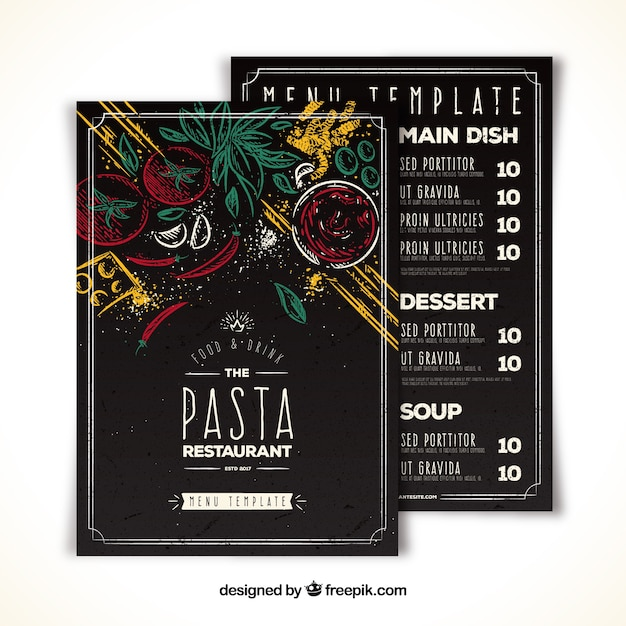 Creative restaurant menu Free Vector