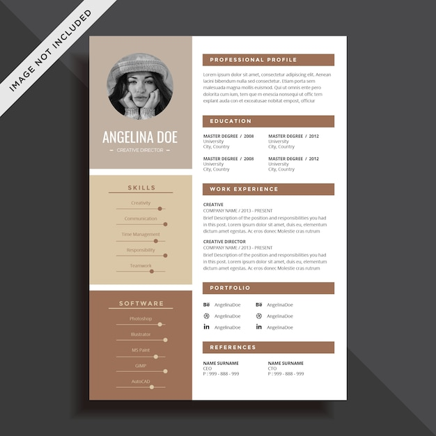 creative resume cv template design vector