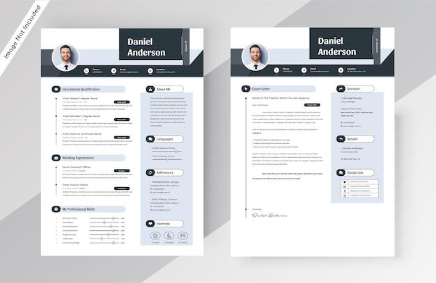 Creative Resume Cv Template Premium Vector