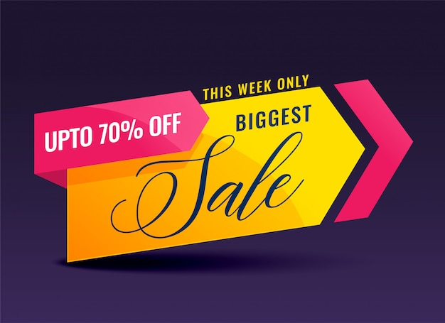 Creative sale banner for promotion and marketing Free Vector