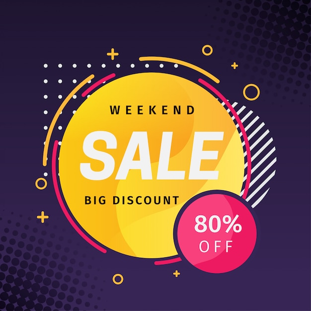 Creative sale banner promotion marketing Premium Vector