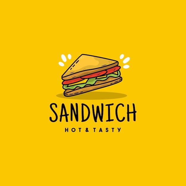 クリエイティブなサンドイッチアイコンのロゴイラスト Premiumベクター