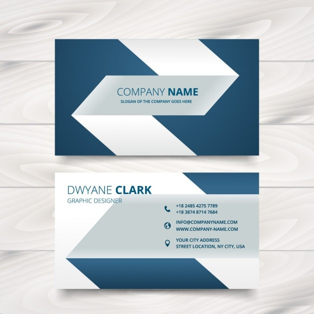 Creative Simple Business Card Design Free Vector