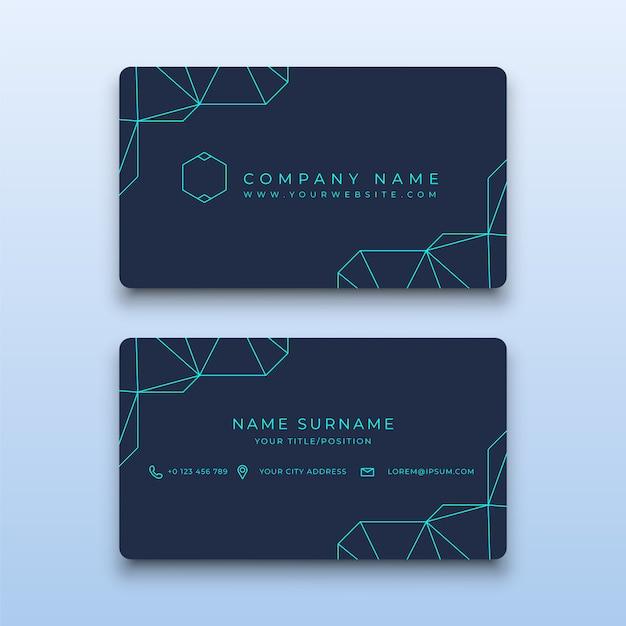 premium vector  creative simple business card template