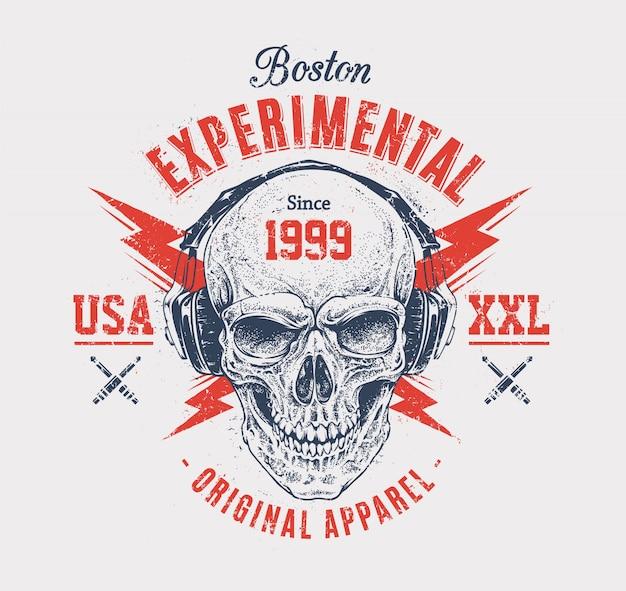 Creative skull design Free Vector
