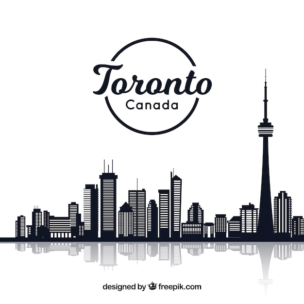 Creative skyline design of toronto Free Vector