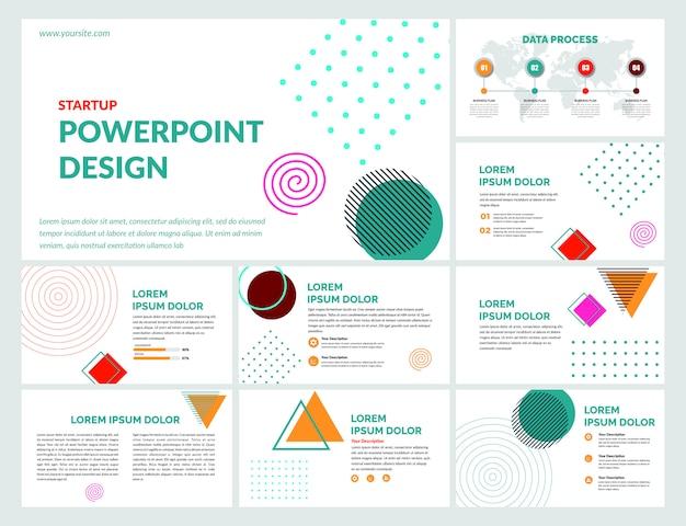 Креативные слайды шаблон премиум Premium векторы